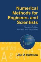 Cover image for Numerical methods for engineers and scientists