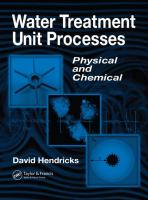 Cover image for Water treatment unit processes : physical and chemical