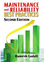 Cover image for Maintenance and reliability best practices
