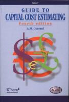 Cover image for Guide to capital cost estimating
