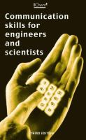 Cover image for Communication skills for engineers and scientists