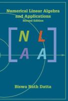 Cover image for Numerical linear algebra and applications
