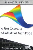 Cover image for A first course in numerical methods