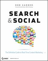 Cover image for Search and social : the definitive guide to real-time content marketing