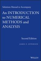 Cover image for Solutions manual to accompany an introduction to numerical methods and analysis