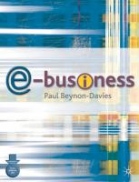 Cover image for E-business