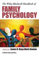 Cover image for The wiley-blackwell handbook of family psychology