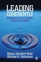 Cover image for Leading coherently : reflections from leaders around the world