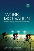 Cover image for Work motivation : history, theory, research, and practice
