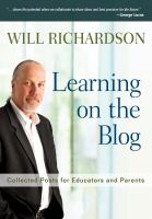 Cover image for Learning on the blog : collected posts for educators and parents