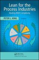 Cover image for Lean for the process industries : dealing with complexity