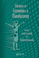Cover image for Advances in ergonomics in manufacturing