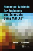 Cover image for Numerical methods for engineers and scientists using MATLAB