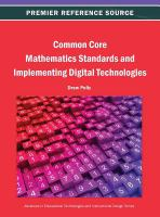 Cover image for Common core mathematics standards and implementing digital technologies