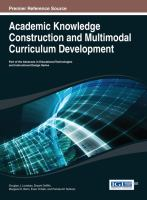 Cover image for Academic knowledge construction and multimodal curriculum development