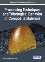 Cover image for Processing techniques and tribological behavior of composite materials