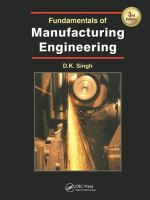 Cover image for Fundamentals of manufacturing engineering