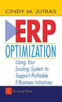 Cover image for ERP optimization : using your existing system to support profitable e-business initiatives