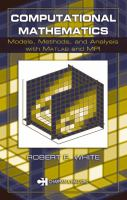 Cover image for Computational mathematics : models, methods, and analysis with MATLAB and MPI