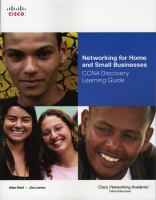 Cover image for Networking for home and small businesses CCNA discovery learning guide