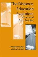Cover image for The distance education evolution : Iissues and case studies
