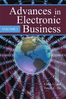 Cover image for Advances in electronic business