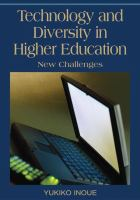 Cover image for Technology and diversity in higher education : new challenges