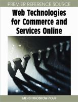 Cover image for Web technologies for commerce and services online
