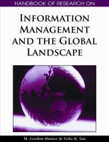 Cover image for Handbook of research on information management and the global landscape