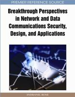 Cover image for Breakthrough perspectives in network and data communications security, design, and applications