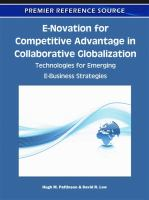 Cover image for E-novation for competitive advantage in collaborative globalization : technologies for emerging e-business strategies