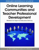 Cover image for Online learning communities and teacher professional development : methods for improved education delivery