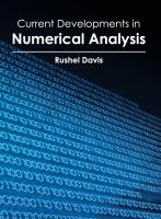 Cover image for Current developments in numerical analysis