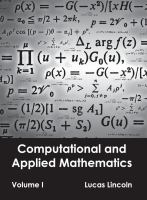 Cover image for Computational and applied mathematics