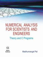 Cover image for Numerical analysis for scientists and engineers : theory and C programs