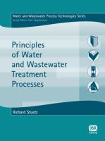 Cover image for Principles of water and wastewater treatment processes