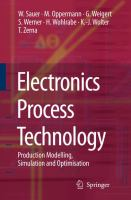 Cover image for Electronics process technology : production modelling, simulation and optimisation