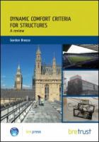 Cover image for Dynamic comfort criteria for structures : a review of UK codes, standards and advisory documents