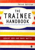 Cover image for The trainee handbook : a guide for counselling and psychotherapy trainees