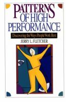 Cover image for Patterns of high performance : discovering the ways people work best