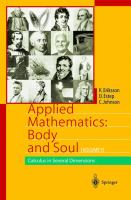 Cover image for Applied mathematics body and soul