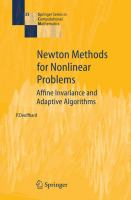 Cover image for Newton methods for nonlinear problems : affine invariance and adaptive algorithms