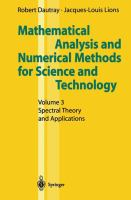 Cover image for Mathematical analysis and numerical methods for science and technology