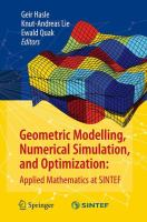 Cover image for Geometric Modelling, Numerical Simulation, and Optimization Applied Mathematics at SINTEF