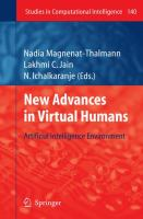 Cover image for New advances in virtual humans : artificial intelligence environment