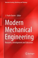 Cover image for Modern mechanical engineering : research, development and education