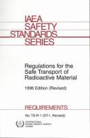 Cover image for Regulations for the safe transport of radioactive material
