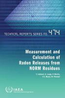 Cover image for Measurement and calculation of radon releases from NORM residues