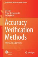 Cover image for Accuracy verification methods : theory and algorithms