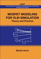 Cover image for Mosfet modeling for VLSI simulation :  theory and practice